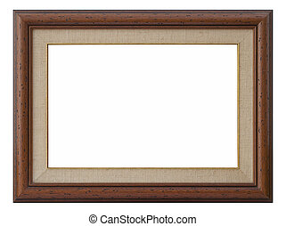 wooden photo frame with passepartout