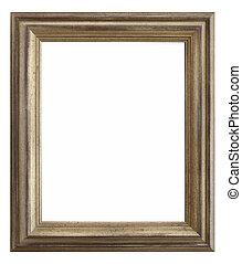 wooden photo frame silver