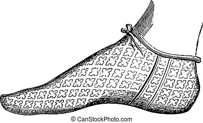 Shoe Philip of France, brother of St Louis, thirteenth...