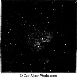 The Orion Nebula, after the direct photography Primitive...