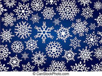 Snowflakes Background (vector)
