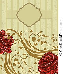 Romantic floral background with vintage roses