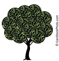 Abstract tree silhouette