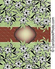 Vintage invitation card with floral design