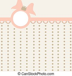 Baby girl arrival card - vector illustration