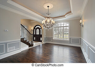 Dining room with foyer view - Dining room in new...