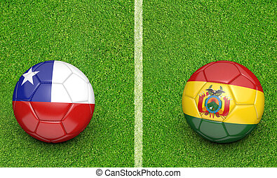 2015 Copa Chile vs Bolivia - 2015 Copa America football...