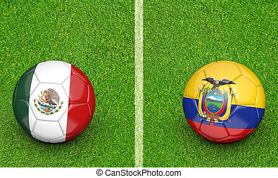 2015 Copa Mexico vs Ecuador - 2015 Copa America football...