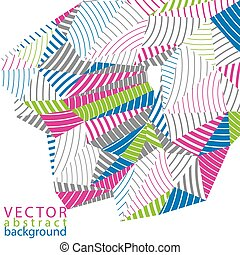 3D vector abstract technology backdrop, geometric unusual...