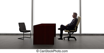 Businessman Waiting for Appointment - Businessman with an...