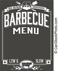 Genuine Southern Barbecue Menu