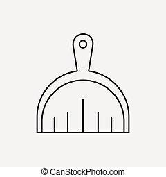 Dustpan line icon