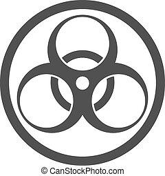 Biohazard symbol isolated.