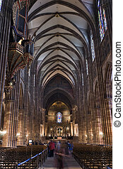 Strasbourg cathedral inside