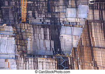Marble quarry - View of marble quarry in Verbania, Piemonte....