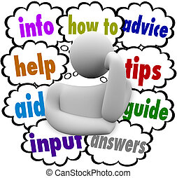 How To Information Help Aid Advice Thinker Thought Clouds
