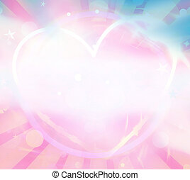 heart background bright color graphic