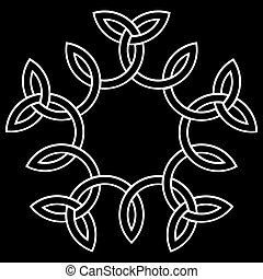 A flower-like knot, vector illustration for your design