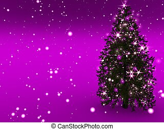 christmas tree - 3d rendered illustration of a christmas...
