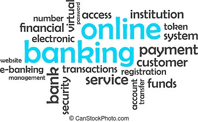 word cloud - online banking - A word cloud of online banking...