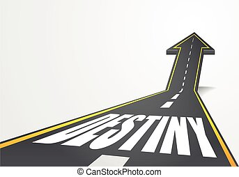 Road to Destiny - detailed illustration of a highway road...