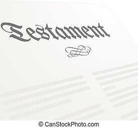 Testament - detailed illustration of a Testament letter,...