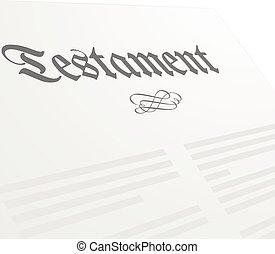 Testament - detailed illustration of a Testament letter,...