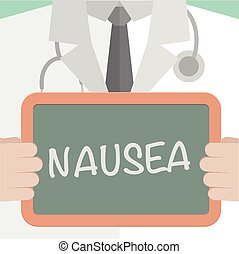 Medical Board Nausea - minimalistic illustration of a doctor...