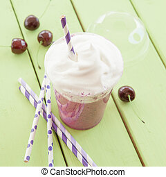 Smoothie made from red fruits