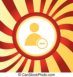 Remove user abstract icon - Yellow icon with image of user...