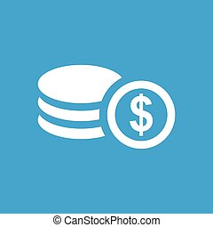 Dollar rouleau icon - Icon with image of dollar rouleau,...