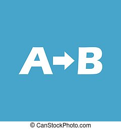 A to B icon - Icon with letters A, B and arrow between,...