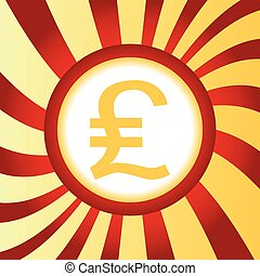 Pound sterling abstract icon - Yellow icon with pound...