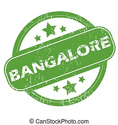 Bangalore green stamp - Round green rubber stamp with name...