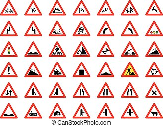 traffic signs big collection - vector