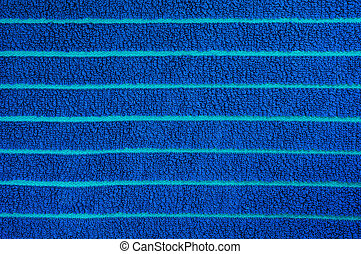 Blue towel texture - Blue beach towel texture and background