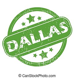 Dallas green stamp - Round green rubber stamp with name...