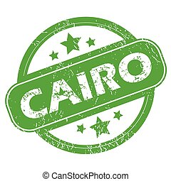Cairo green stamp - Round green rubber stamp with name Cairo...