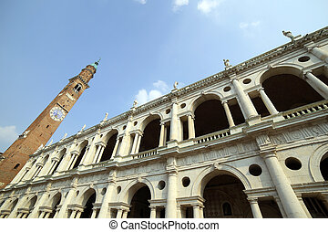 clock tower and the fantastic palladian basilica in Vicenza...