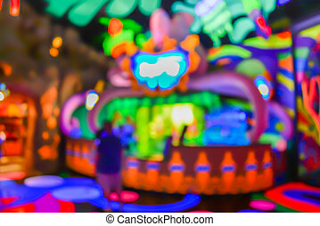 blur image of amusement shop for background usage. - blur...