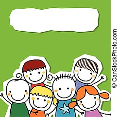 group of kids card