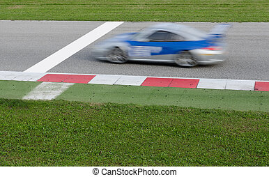 racing car - car near the finish line