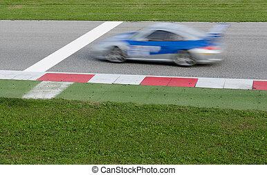 racing car - car near the finish line