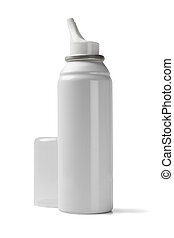 Nasal Spray on White Background