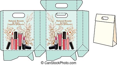 template bags for cosmetics. vector pattern package for your...