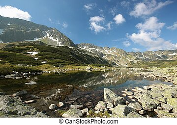 Valley in the Polish Tatras - Valley of five ponds in the...