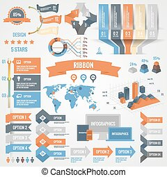 Infographics set with options. Business icons and charts...