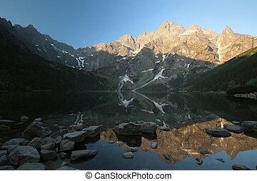 Tatra Mountains, Poland - Lake Morskie Oko in the Tatra...