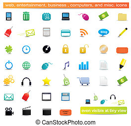 Web icons - Set of web, business, entertainment, and...