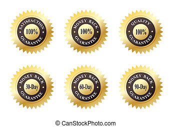 Gold Seals of Approvals - Set of Six Gold Seals of Approvals...